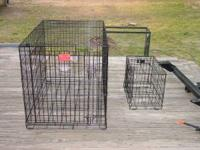 Large Dog Cage asking $75.00 also have a portable one