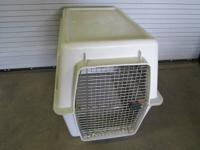 Big canine crate and canine home, used however in