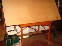 Drafting Table, 6'x3' adjustable top, 46''w x30''d