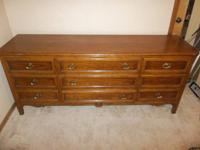 "Nice big dresser in great shape.  It is 30"" high and"