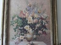 Descripción Beautifully painted floral oil painting in