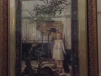 "Beautiful framed picture called ""Broken Flower Pot"","