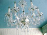 Here is a GORGEOUS Crystal CHANDELIER. The Chandelier