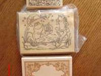 3 Large Wood Block Stamps Purchased for an event, never