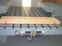 Hardly used Custom Built Gang-Saw Production Table cuts