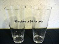 "Very large heavy glass vases, 12""x6"". Beautiful. No"