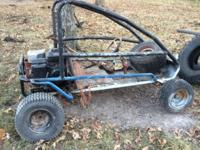 I have a large go cart frame for sale. It needs an axle