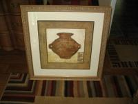 THIS IS A REALLY NICE GOLD FRAMED AND MATTED PRINT -