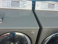 Here is a Grey Washer and Dryer Set - Runs and looks