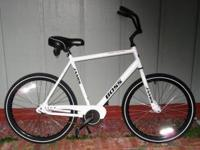 Large single-speed Jamis Boss Cruiser with coaster