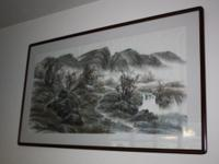"This is a large framed piece: 60.5"" long and 34.5"""