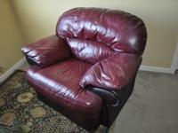 Gorgeous and comfortable leather love-seat armchair.