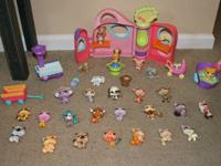 Huge collection of Littlest Pet Shop Items consisting