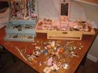 Large lot of vinatge costume jewelry from estate sale.