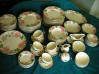 Over 80 pieces of hand-painted china by Franciscan