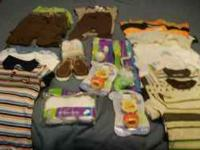 LARGE LOT OF NEWBORN INFANT CLOTHES INCLUDED ARE: WHITE