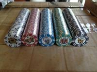 We have a big quantity of 9 gram composite poker chips