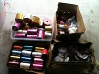 I am selling a huge lot of ribbon and related items as