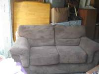 Dark sage loveseat- excellent condition. Please call