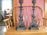 Ornate metal candelabras. $155  Location: Dodgeville
