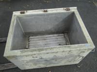 Large Military Aluminum Ice Cooler Storage 41 x 27 x
