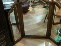 This 3 way mirror can be used on top of a vanity or