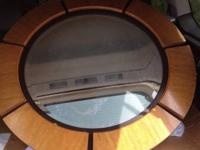 Large, heavy round mirror. Beautiful in great