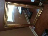 beautiful mirror with frame. mirror is 24x36 and with