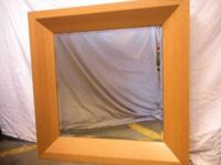 TREASURES ITEM #17212  Large mirror with clean lines.