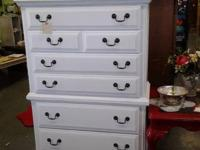 This is a big strong oak chest of drawers made by the