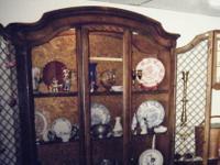 Large Oak China Cabinet , all Solid Oak - $235