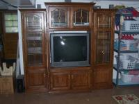 This entertainment center was from Oak and More, not a