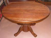 I have for sale for $125 a large solid oak pedestal