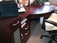 "Purchased December 2011. Desk measures 60"" wide by 39""."