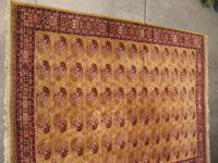 Large plush genuine wool oriental patterned rug, 10x13,