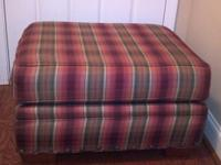 Large Ottoman, multi-color , comfortable, sturdy, clean