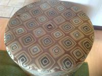 Lovely round ottoman with fun pattern for sale! ottoman