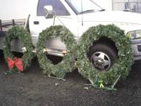 large outdoor wreaths. The metal frames are in great