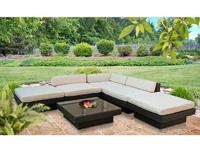 Large new outdoor patio sectional, available in black
