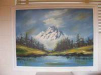 Large painting of mountain. Aprox. 4 ft x 3ft. Would