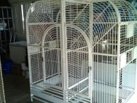For sell huge heavy duty parrot cage is over 6' tall x