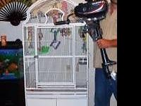 "Huge Parrot Cage available for sale. 32""L x 23""W x"