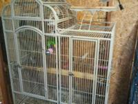 Used large parrot cage for sale.Asking $175. Cage has
