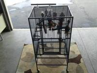 Foe Sale Large parrot cage included all assessories and