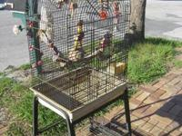 Nice heavy gauge wire cage for medium size parrots and