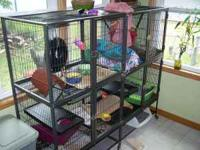 Very large cage 62x24x54. It is actually two cages put