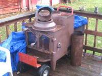 You can fit 7-8 pieces of 16'' wood in this stove, was
