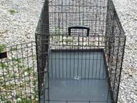 Large Precision 2 Door Dog Crate with Divider Panel.