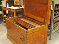 We have a handmade 1800s device box with 2 hand created
