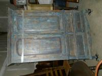 Large blue Armoire--shabby chic?--French provincial